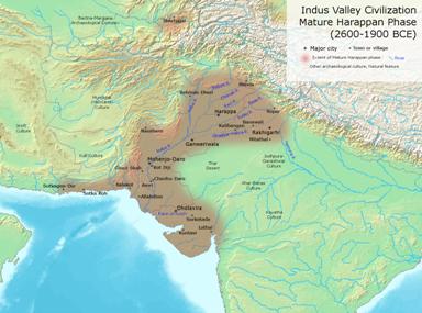 Map of Indus valley civilisation