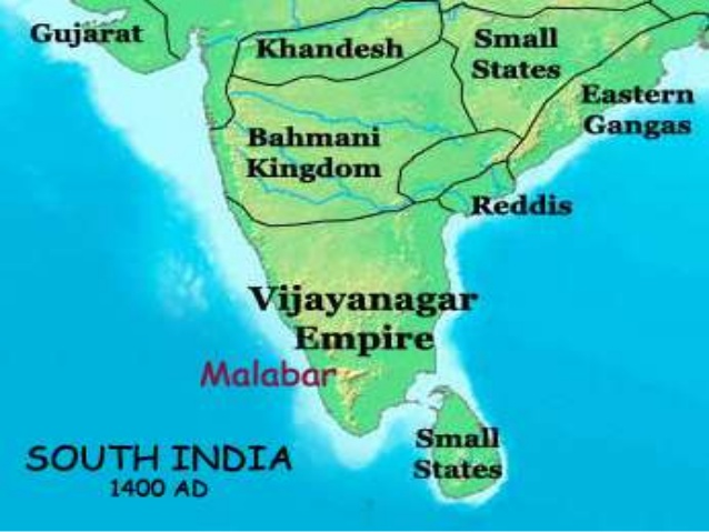 Map of Vijayanagara empire