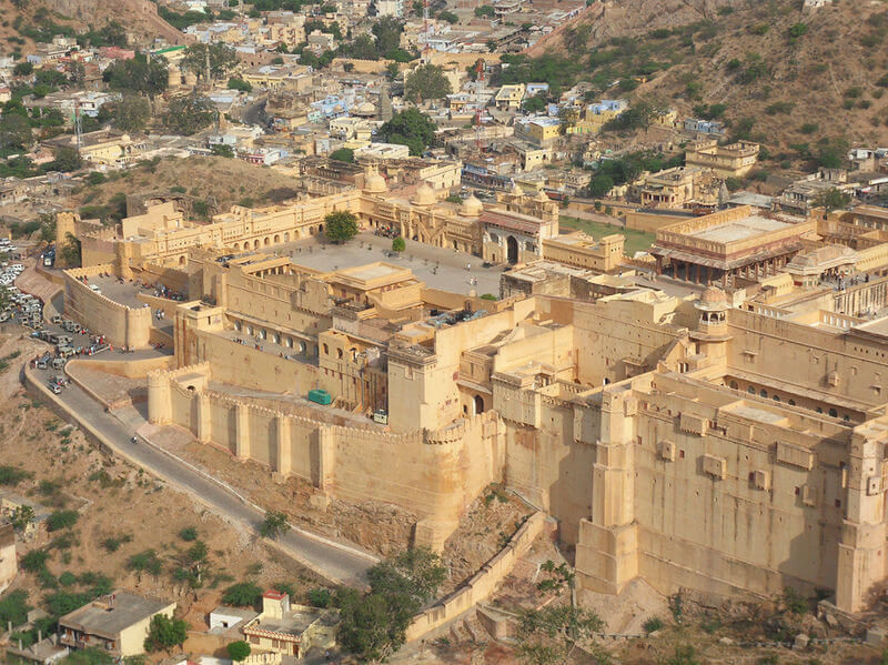 Aerial view of Amer Fort