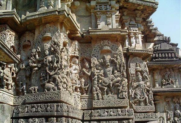 Beautiful architecture of the temple