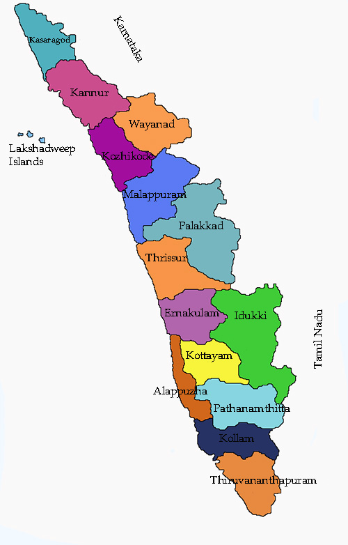 Map of Kerala