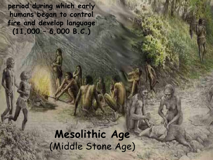 Using of fire in Mesolithic period