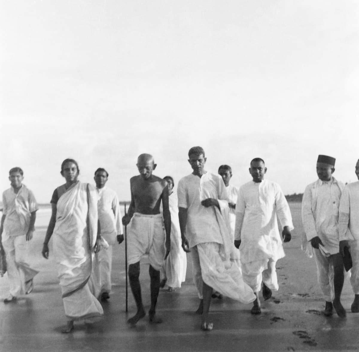 Gandhiji at Dandi March