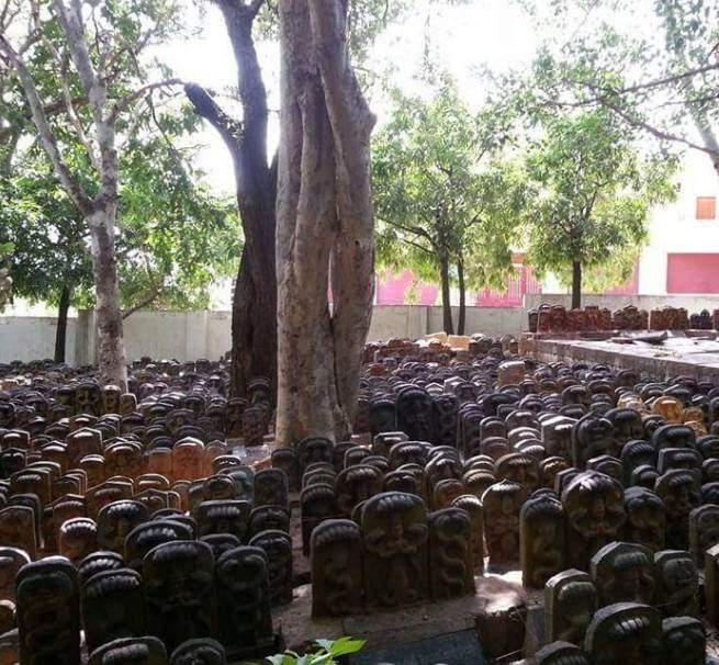 Snake idols at Ghati Subramanya temple