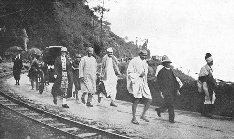 Chittaranjan das with Mahatma Gandhi