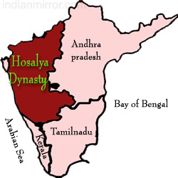 Map of Hoysala Dynasty