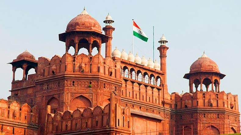 India flag on Red Fort