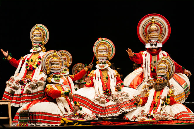 Costumes worn in Kathakali dance