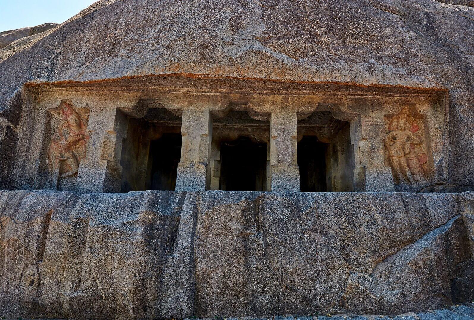 Mandagapattu temple architecture of Pallava dyanasty