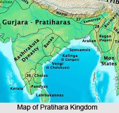 Map of Gurjara Prathihara dynasty