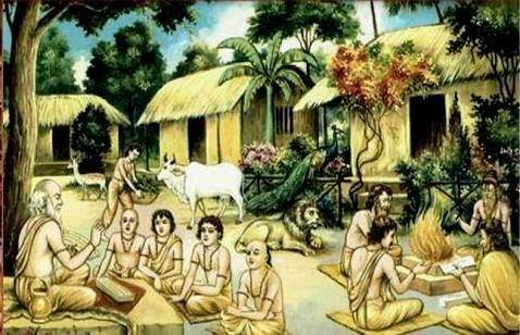 Education system during ancient India period.