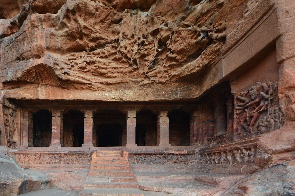 Badami Caves in Karnataka India