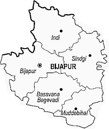 Map of Bijapur