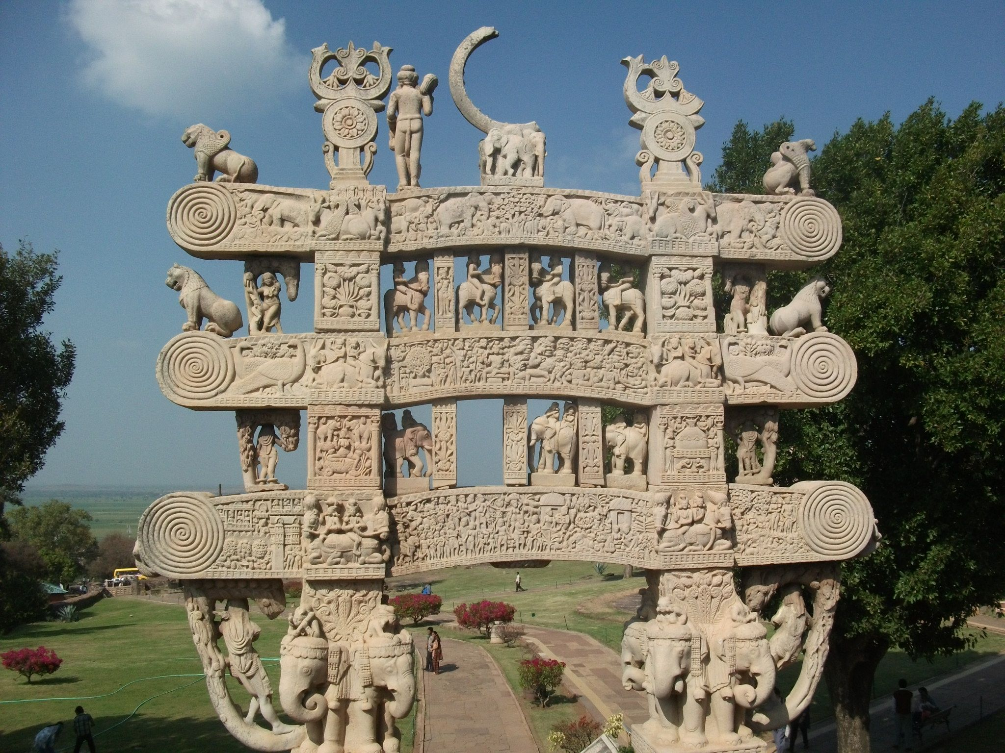 Gateways at Sanchi Stupa