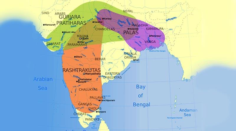 Map of Gurjara Prathihara