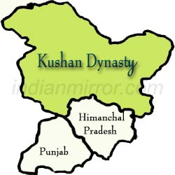 Map of Kushan Dynasty