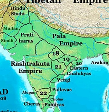Hindu Shahi Kingdom in map - Pala Dynasty Pala Empire History, Founder