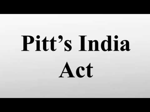 Pitt's India act of 1784