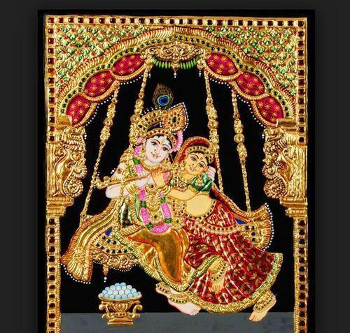 Beautiful Radha Krishna tanjore painting