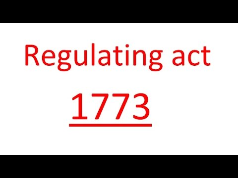 Regulating act of 1773