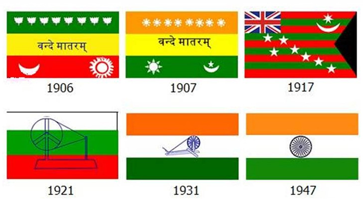 Different flags of India prior to final acceptance