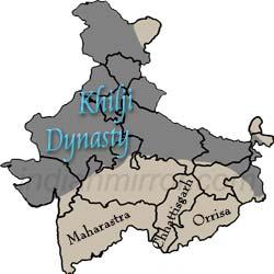 map of Khiliji Dynasty