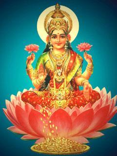 Goddess Saraswati on Lotus