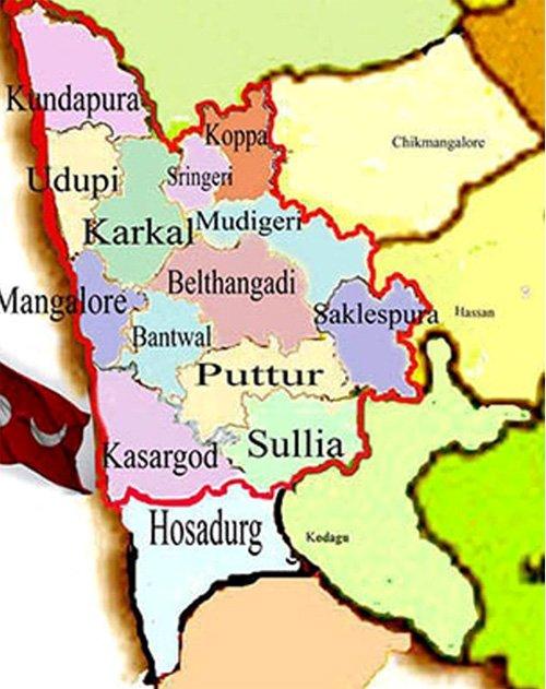 Map of Mangalore